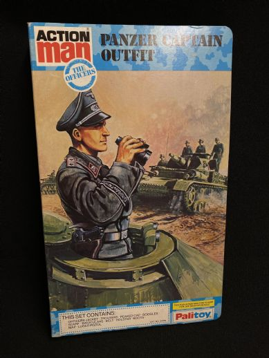 VINTAGE ACTION MAN - PANZER CAPTAIN BOOK CARDED UNIFORM